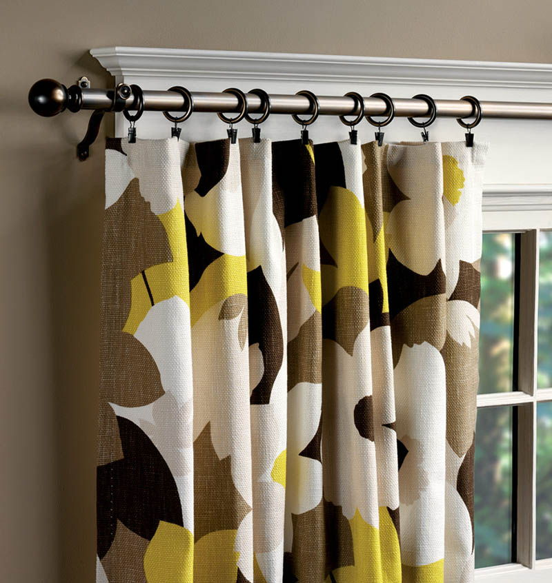 Curtains Ideas curtain rod wood : used in combination with wood and often wood is also used beside wood ...